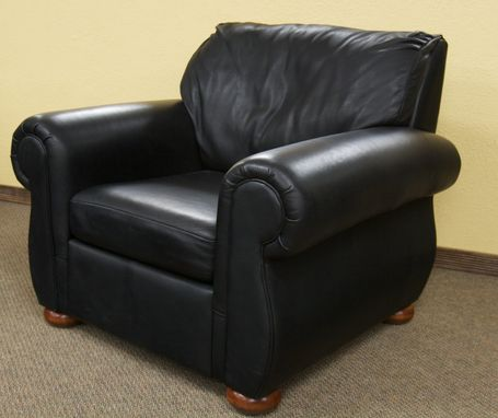 Custom Made Pillow-Back Leather Chair