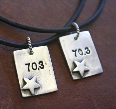 Custom Made Sterling Silver - Swim Bike Run Star Necklace - $80