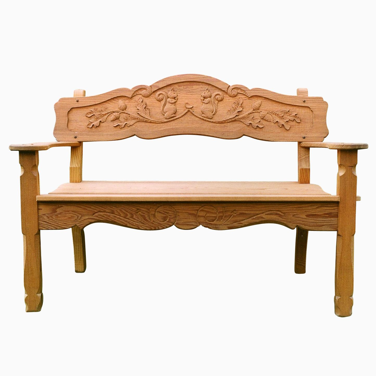 custom made handcarved cyprus or mahogany garden bench