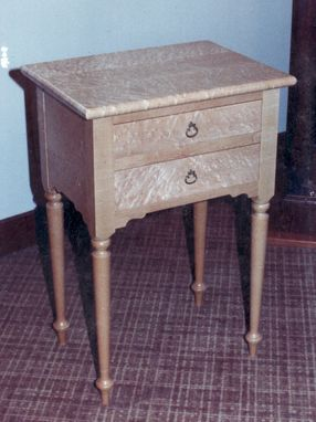Custom Made Birds Eye Maple Bedside Table
