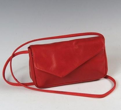 Custom Made Mindy- Red Leather Purse