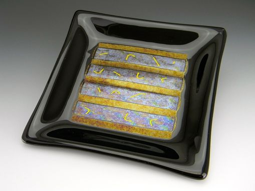 Custom Made Contemporary Fused Glass Trivets/Dessert Plates