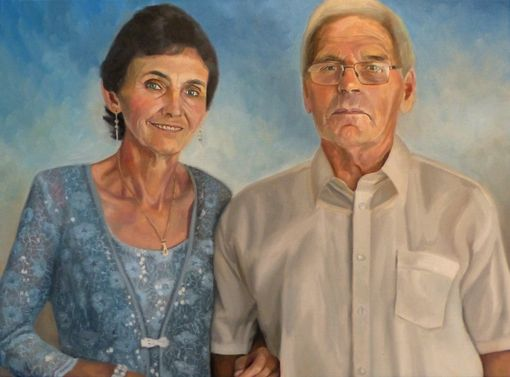 Custom Made Custom Portrait Commissioned Oil Painting