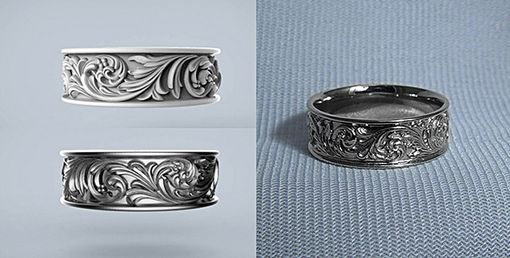 Custom Made Western-Style Wedding Band