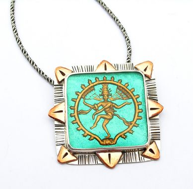 Custom Made Shiva Statement Necklace, Handmade Yoga Inspired Statement Jewelry