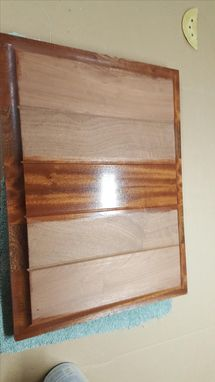 Custom Made Sapele Exterior Door With Triple Glass Sidelight