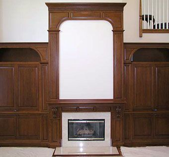 Custom Made Fireplace Media Cabinetry