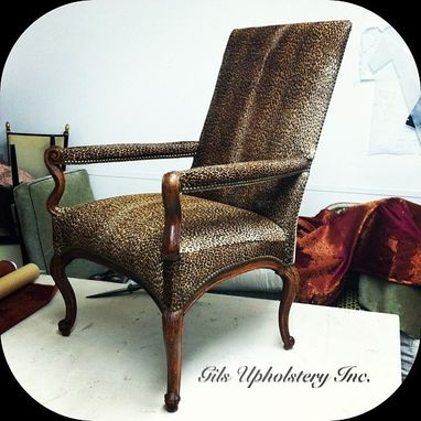 Custom Made Antique Office Chair Re-Upholstery