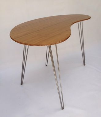 custom standing desk kidney shaped mid. standing desk kidney shaped mid century modern custom s