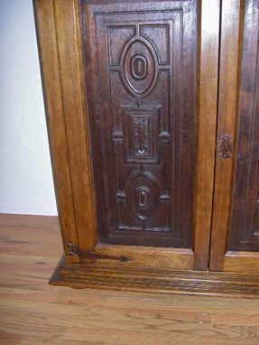 Custom Made Carved Renaissance Style Tv Cabinet