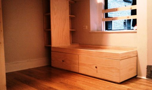 Custom Made J.S Loft Bed, Drawer-Stairs, And Captains Bed