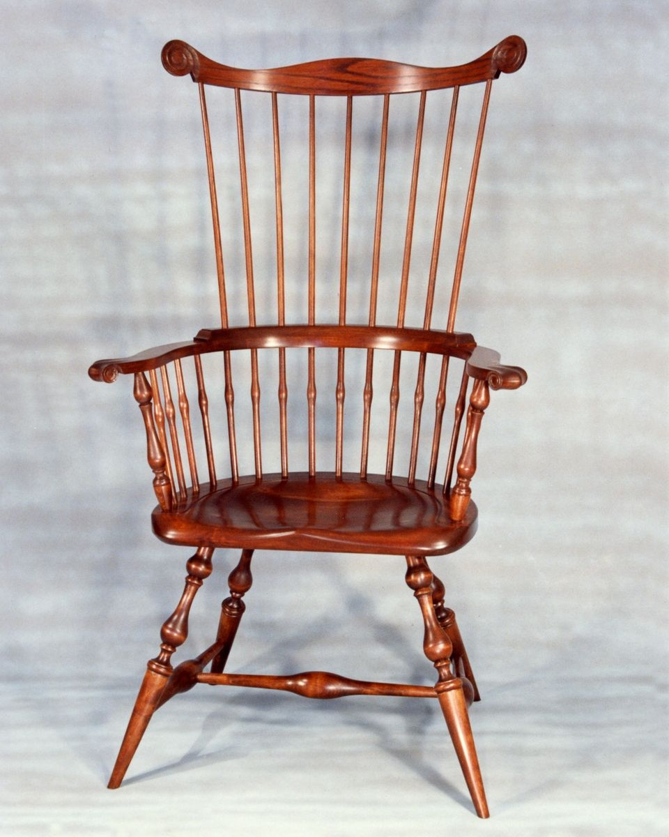 Custom Made Maine Windsor Comb Back Arm Chair