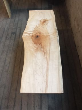 Custom Made Live-Edge Maple Coffee Table