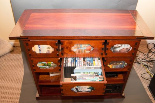 Custom Made Arts And Crafts Style Media Cabinet