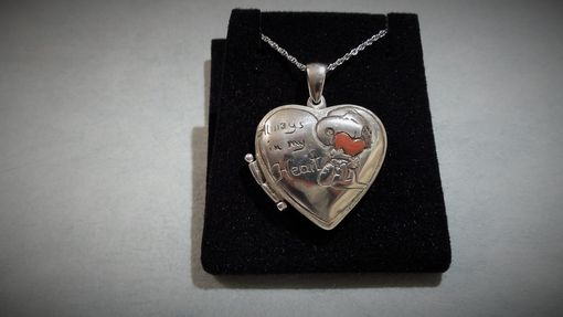 Custom Made Heart Lockett, Sterling Silver Lockett Snoopy Pendant