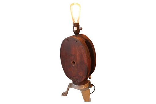 Custom Made Vintage Pulley Desk Lamp