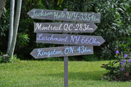 Custom Made Garden Directional Destination Wood Arrow Sign, Housewarming Gift Idea.