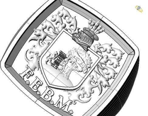 Custom Made Sterling Silver Family Crest Ring