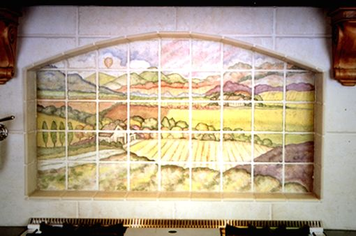 Custom Made Tuscany Scene On Tile