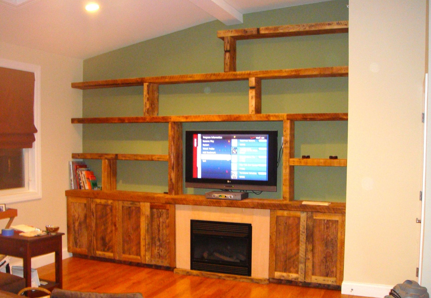 Wooden Wall Units Custom Reclaimed Wood Wall Unitendless Design  Custommade