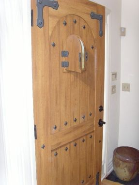 Custom Made Reclaimed Sycamore And Oak Door