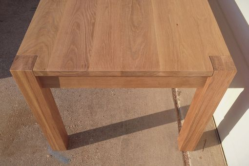 Custom Made Parsons Style Dining Table