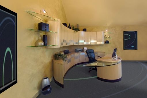 Custom Made Curved Maple Home Office