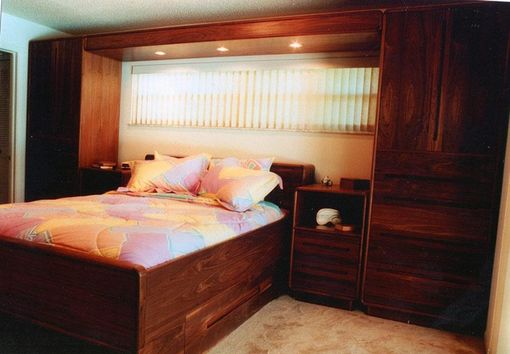 Custom Made Platform Bed With Armoires