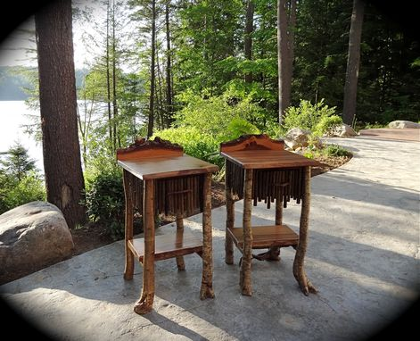 Custom Made Rustic End Tables