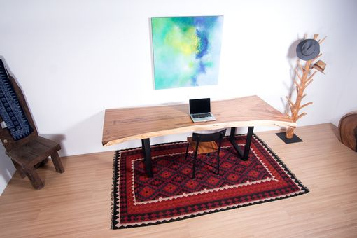 Custom Made Live Edge Wood Slab Table - Perfect For Dining Table Or Home Office Desk