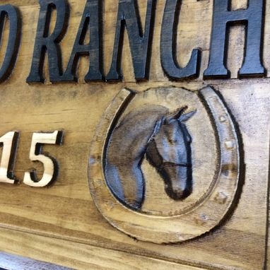 Custom Made Ranch Sign Horse Barn Horseshoe Decor Rustic Cabin Decor Man Cave Sign Established Camper Sign