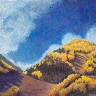 Custom Made Aspen Mountain Awakening (Colorado Fall) Painting - Fine Art Print On Stretched Canvas