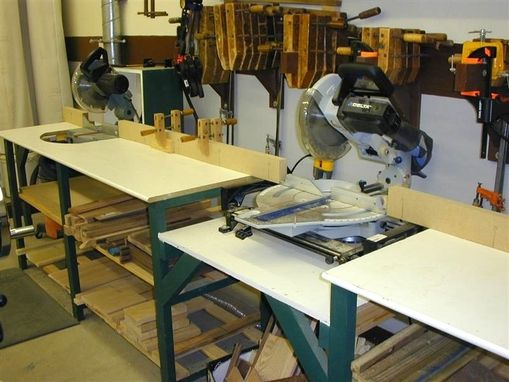 Custom Made Double Saw Cut-Off Table
