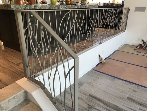 Custom Made Abstract 'Branch' Metal Forged Iron Railing