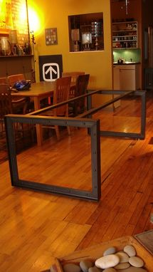 "Custom Made Dining Table Base – Structural Steel ""T"""