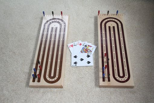 Custom Made Custom Inlayed Cribbage Board