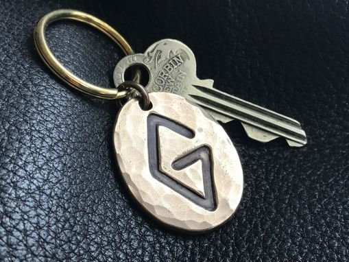 Custom Made Solid Bronze Key Chain Key Ring Key Fob With Ranch Brand Or Logo