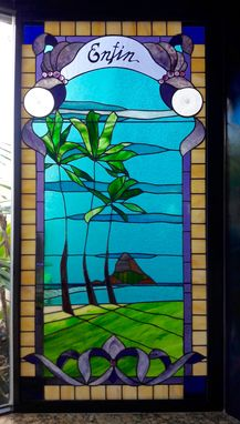 Custom Made Stained Glass Window- Mokoli`I