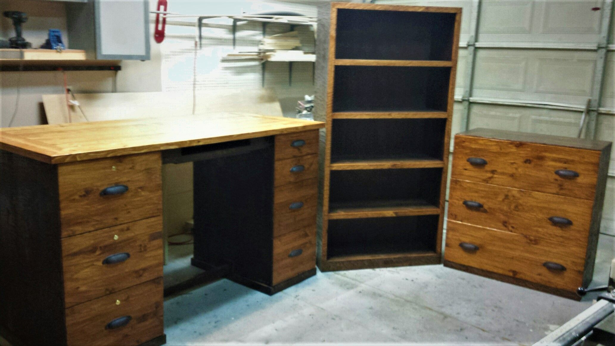 Hand Crafted Hewn Pine Office Furniture By Chips