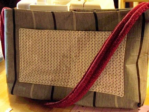 Custom Made Large Purse/Tote Bag With Middle Divider
