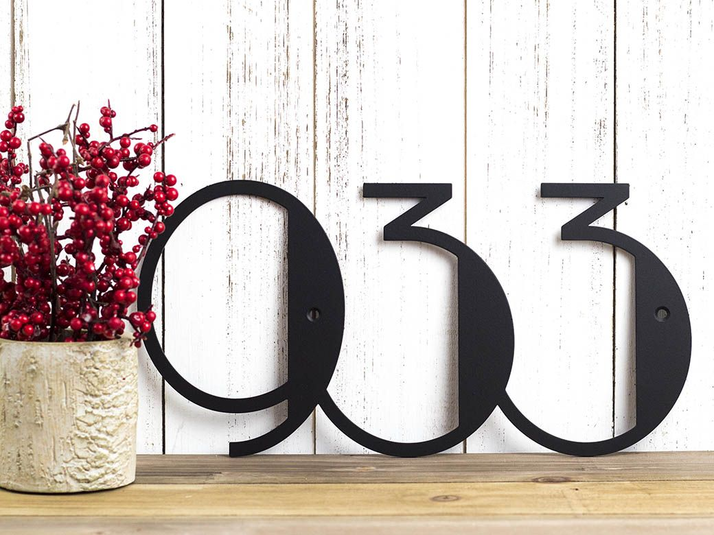 Custom Made Modern House Numbers Sign Metal Number Address