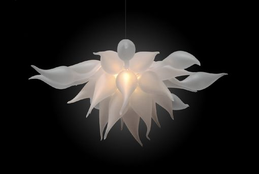 Custom Made Bella Fiore Hand Blown Glass Chandelier