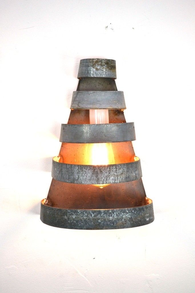 Buy A Custom Loft V3 Salita Wine Barrel Ring Wall Sconce Made