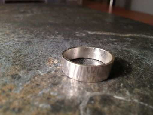 Custom Made Textured Sterling Silver Unisex Ring