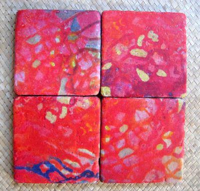 custom made tile coasters handmade tile with multi colored original