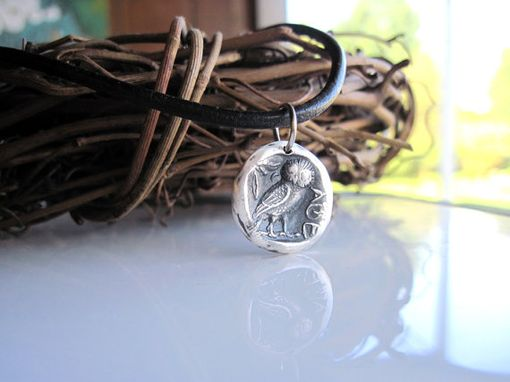 Custom Made Mens Greek Owl Necklace