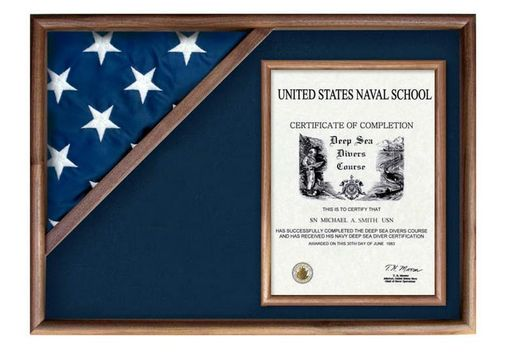 Custom Made Flag Display Case Flag And Certificate Flag Box