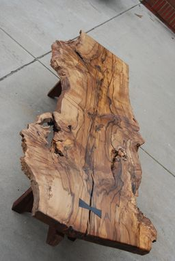 Custom Made Natural-Edge Wood Coffee Tables