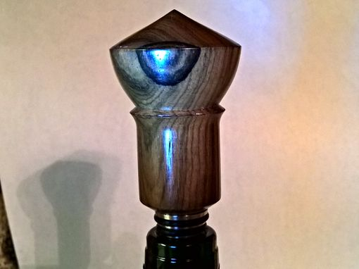 Custom Made Wine Bottle Stopper. Ziricote Hardwood And Solid Stainless Steel