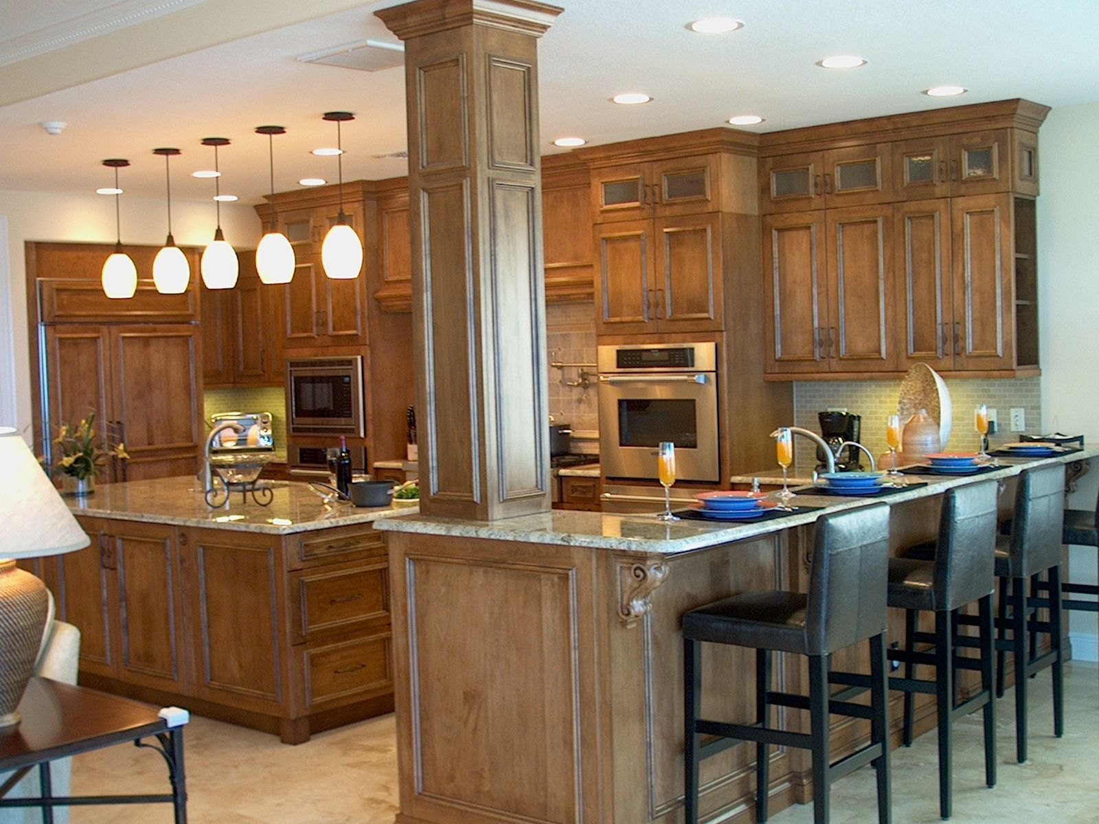 Handmade Custom Kitchen, Mediterranean Style By Traditions
